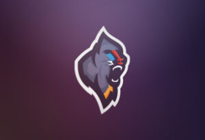 athletic sports logo design forrest baboons mandrills logo